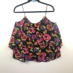 Paper Crane flower blouse sz large